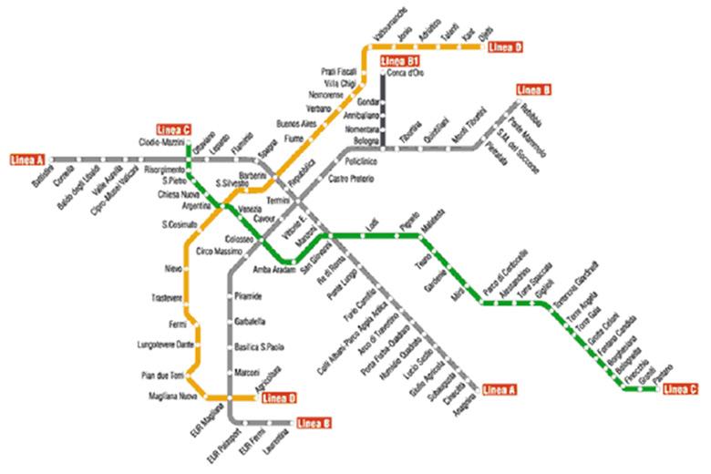 Mappa Metro Roma Linea C